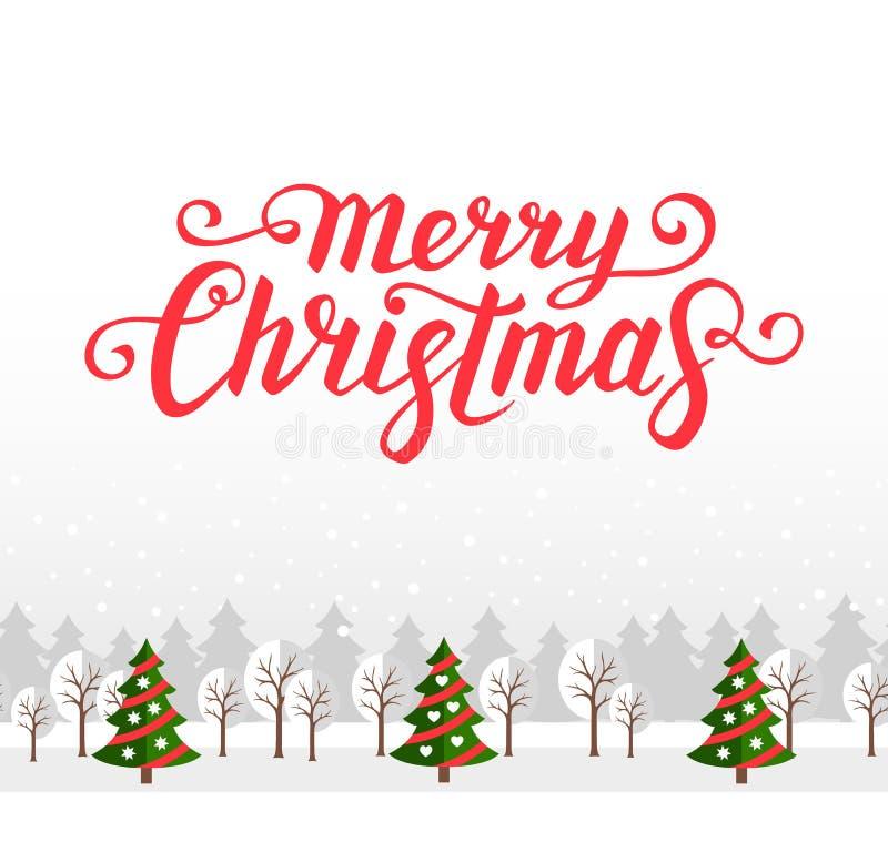 De kaartmalplaatje van de Kerstmisgroet stock illustratie