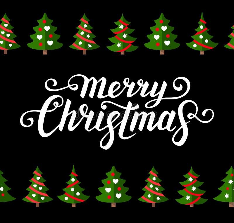 De kaartmalplaatje van de Kerstmisgroet vector illustratie