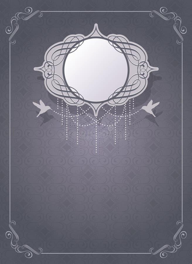 De kaartmalplaatje van de uitnodiging royalty-vrije illustratie