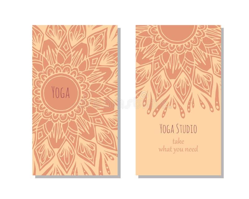 De kaartmalplaatje van de yogastudio stock fotografie