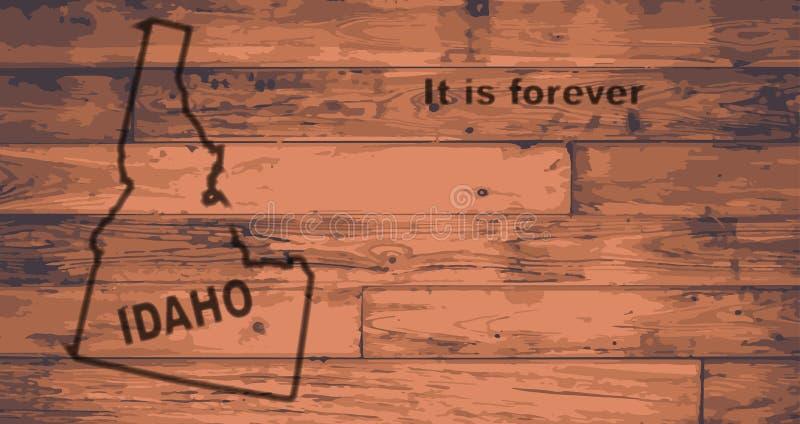 De Kaartmerk van Idaho royalty-vrije illustratie