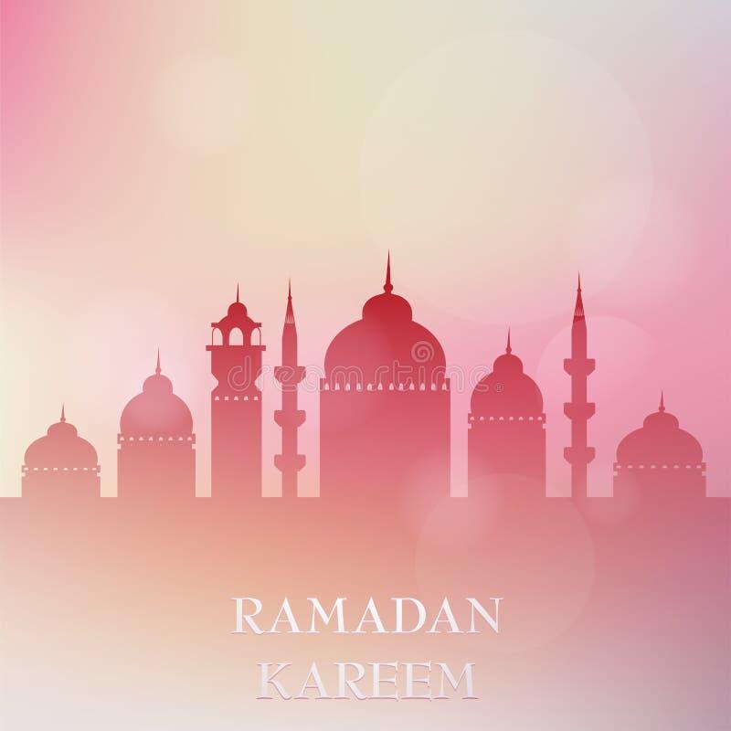De kaartontwerp van de Ramadangroet vector illustratie