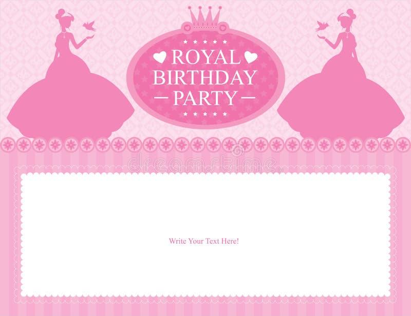De kaartontwerp van de verjaardagsprinses royalty-vrije illustratie