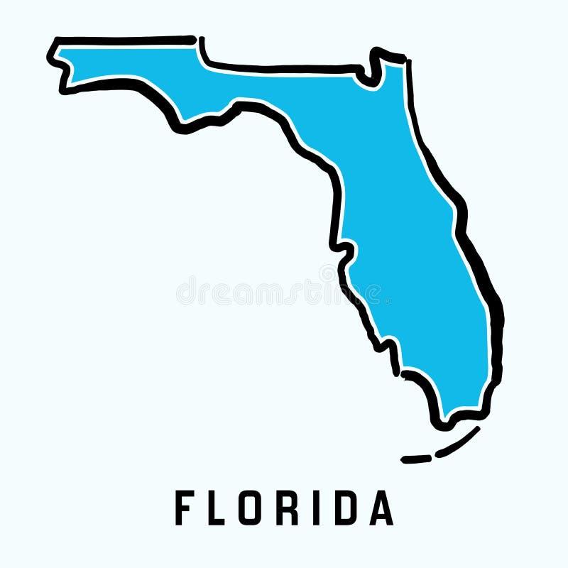 De Kaartoverzicht van Florida stock illustratie