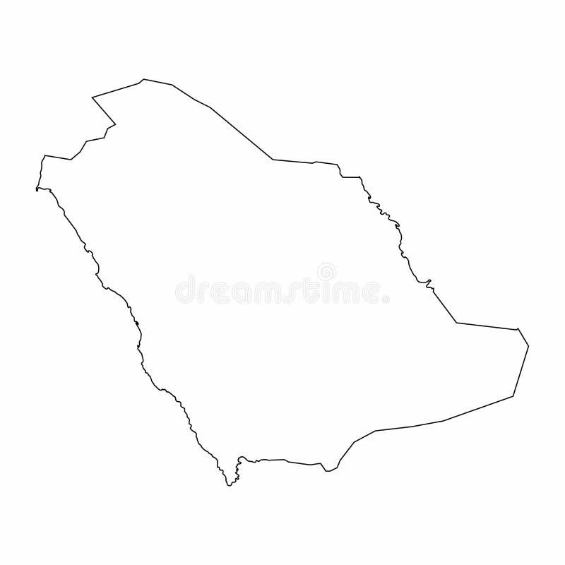 De kaartoverzicht van Saudi-Arabi? het grafische trekken uit de vrije hand op witte achtergrond Vector illustratie stock illustratie