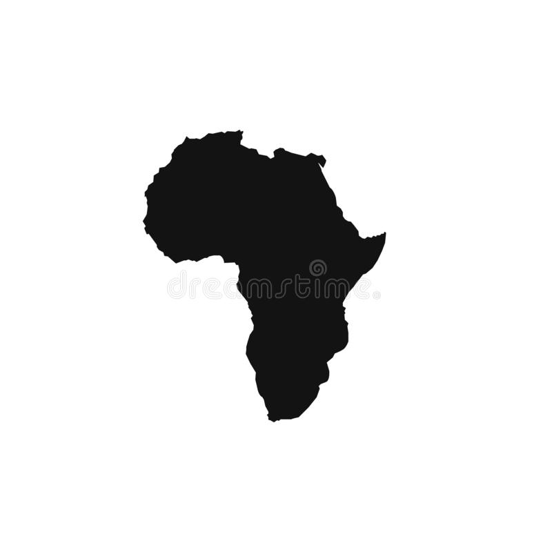 De kaartpictogram van Afrika Vlak eenvoudig zwart ontwerp Vector eps10 royalty-vrije illustratie