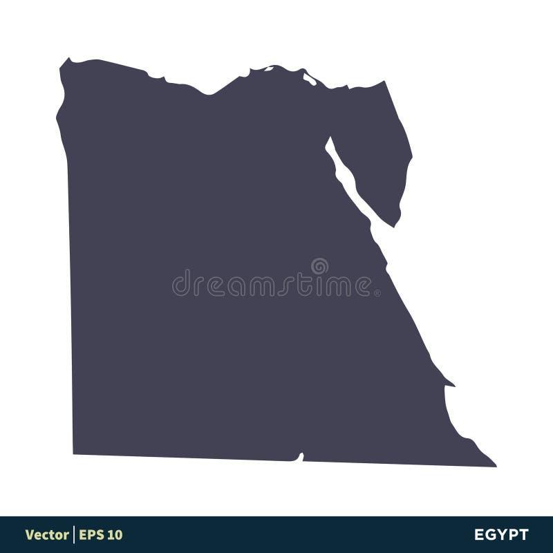 De Kaartpictogram Vectorlogo template illustration design van de Landen van Egypte - van Afrika Vectoreps 10 vector illustratie