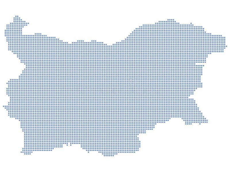 De kaartpunten van Bulgarije stock illustratie