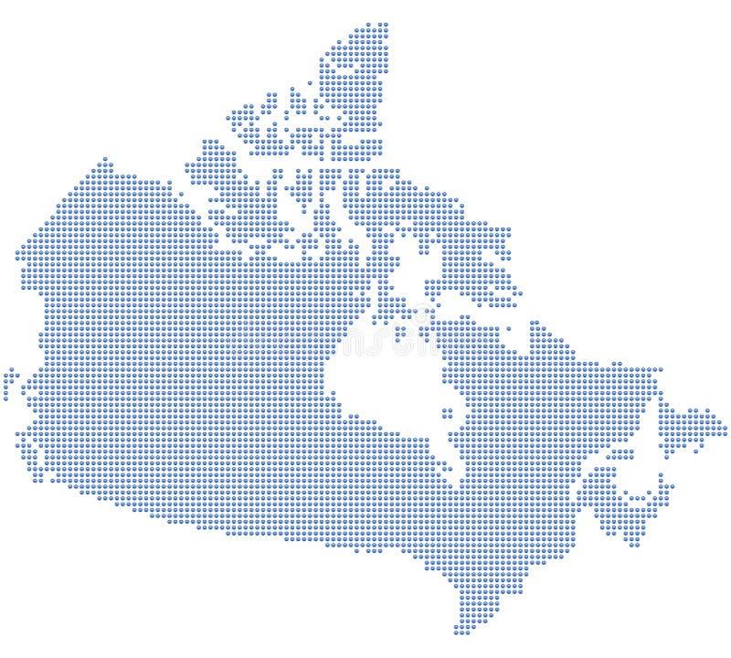De kaartpunten van Canada vector illustratie