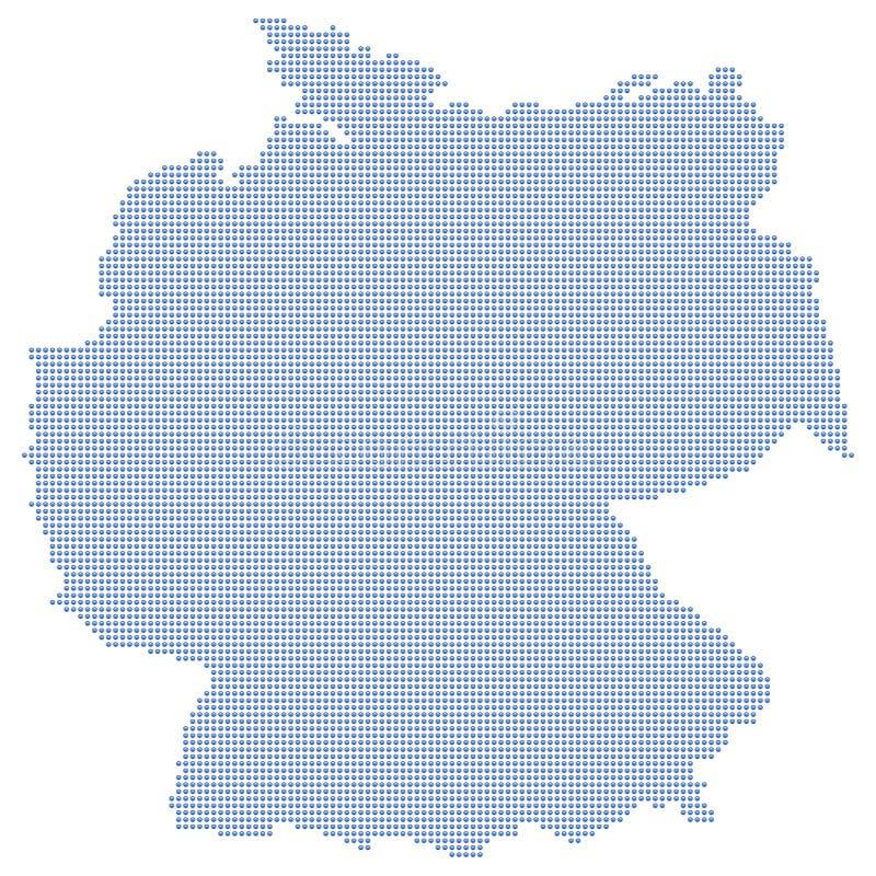 De kaartpunten van Duitsland royalty-vrije illustratie