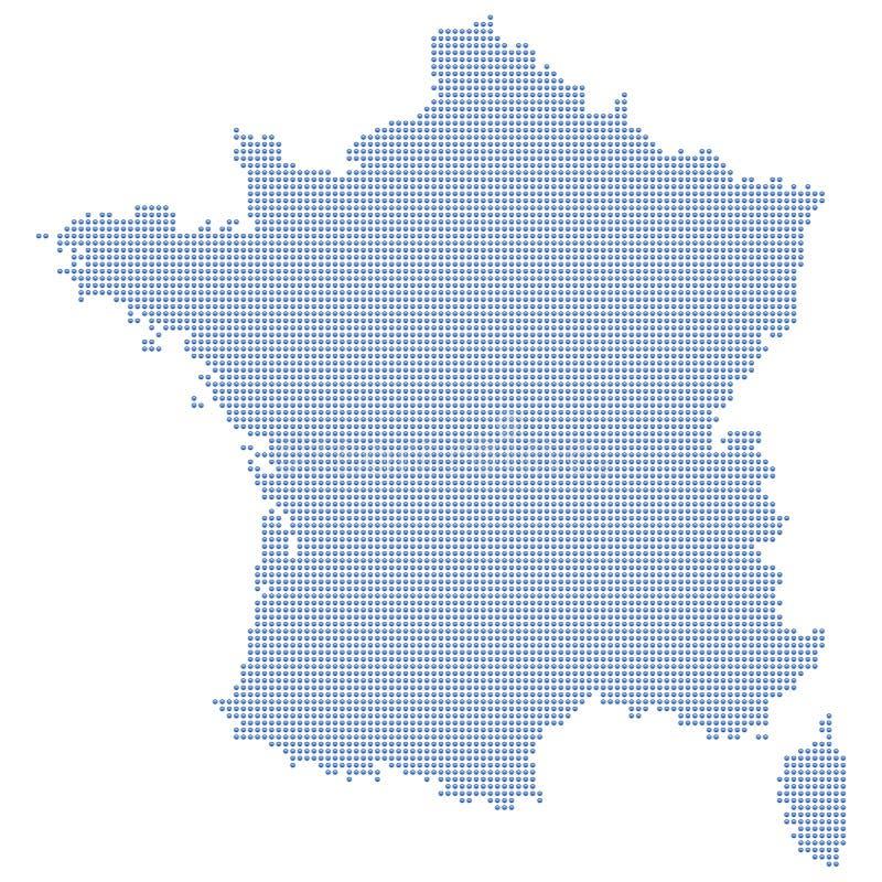 De kaartpunten van Frankrijk royalty-vrije illustratie