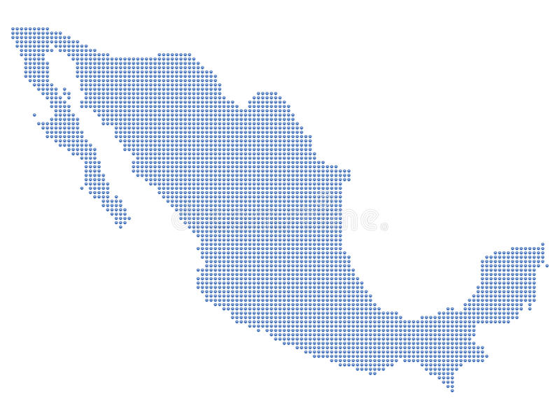 De kaartpunten van Mexico royalty-vrije illustratie