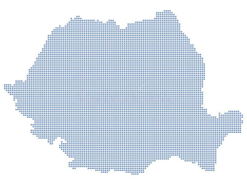 De kaartpunten van Roemenië royalty-vrije illustratie