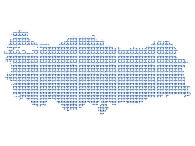 De kaartpunten van Turkije royalty-vrije illustratie