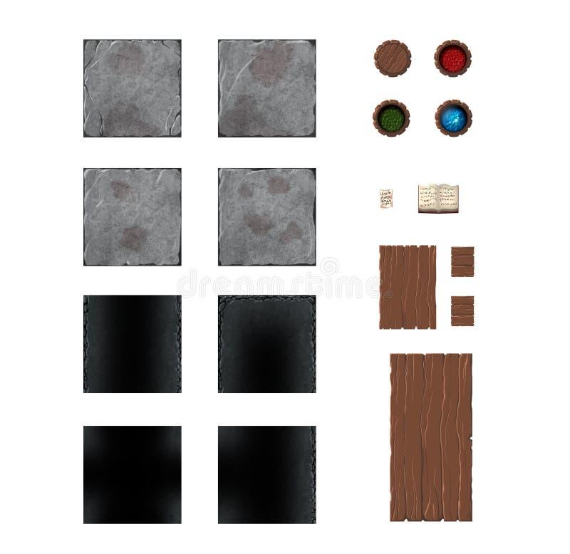 De kaartreeks van het raadsspel vector illustratie