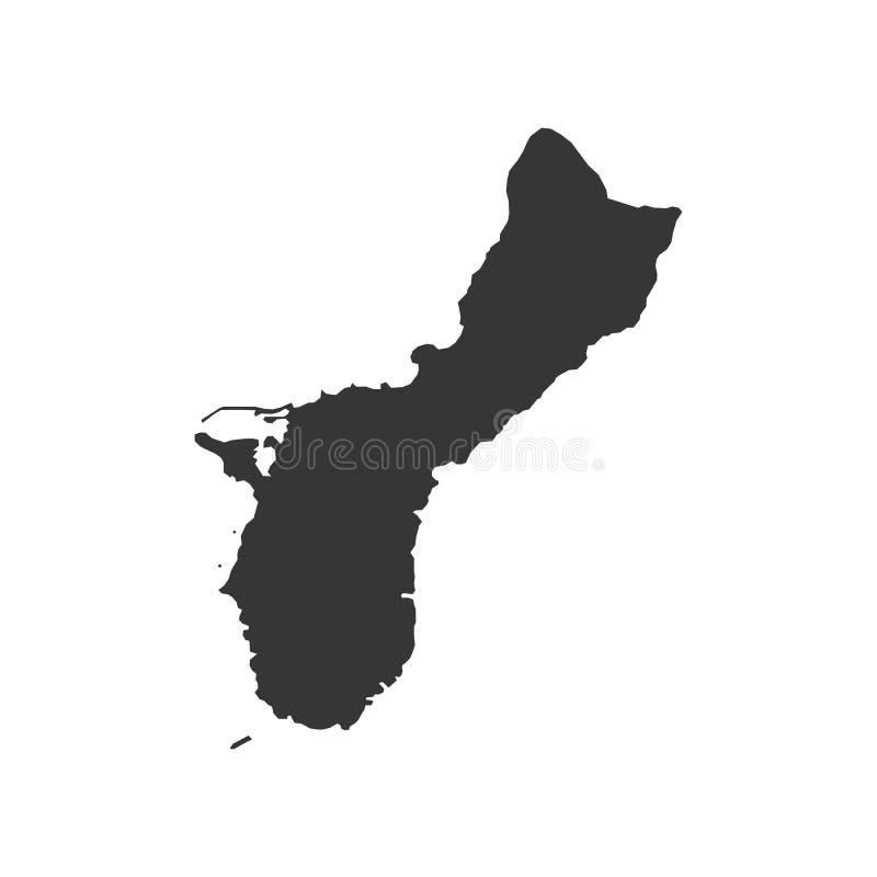 De kaartsilhouet van Guam royalty-vrije illustratie