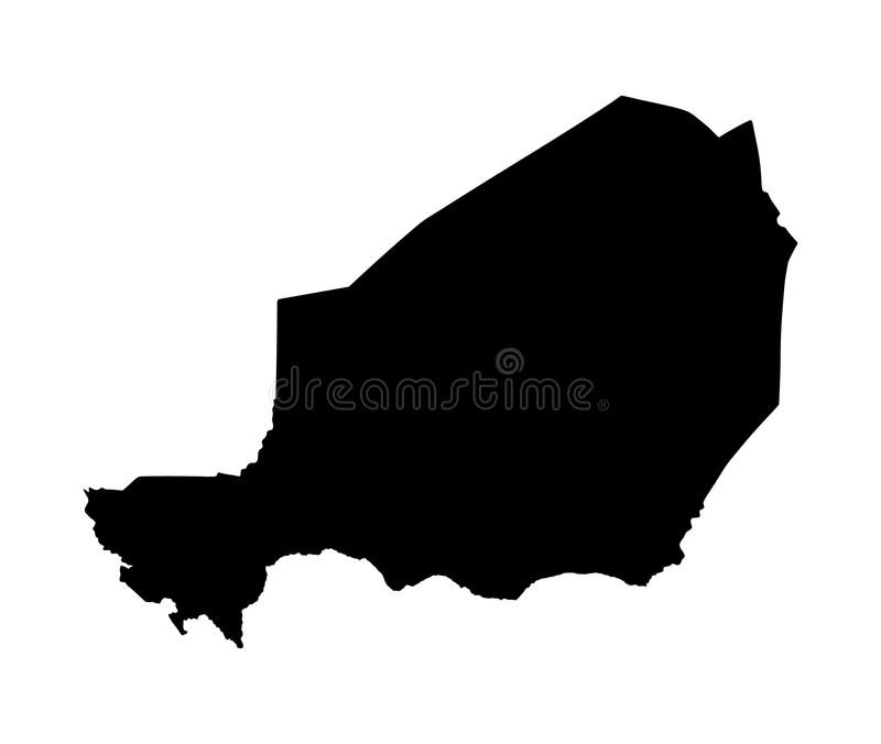 De kaartsilhouet van Niger royalty-vrije illustratie