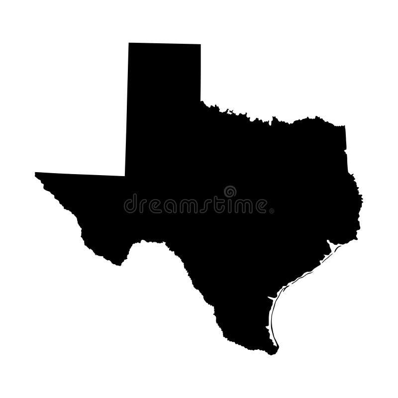 De kaartsilhouet van Texas royalty-vrije illustratie