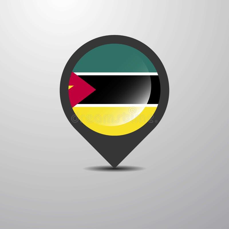 De Kaartspeld van Mozambique stock illustratie