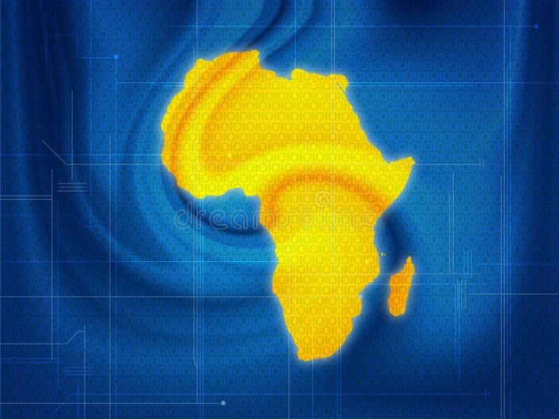 De kaarttechno van Afrika royalty-vrije illustratie