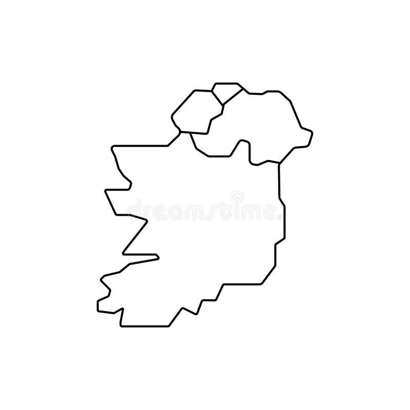 De kaartteken van Ierland Eenvoudig pictogram vector illustratie