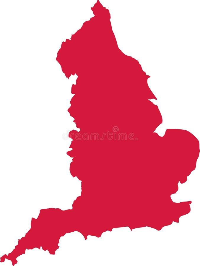 De kaartvector van Engeland royalty-vrije illustratie