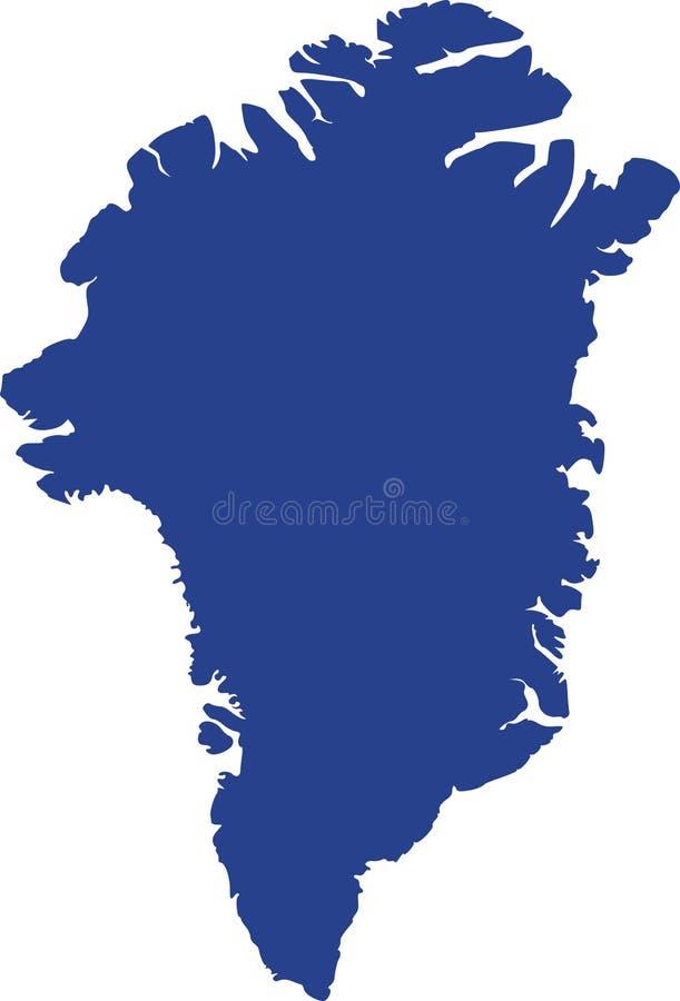 De kaartvector van Groenland stock illustratie