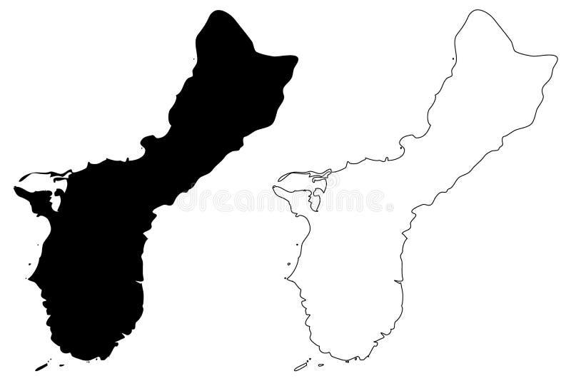 De kaartvector van Guam