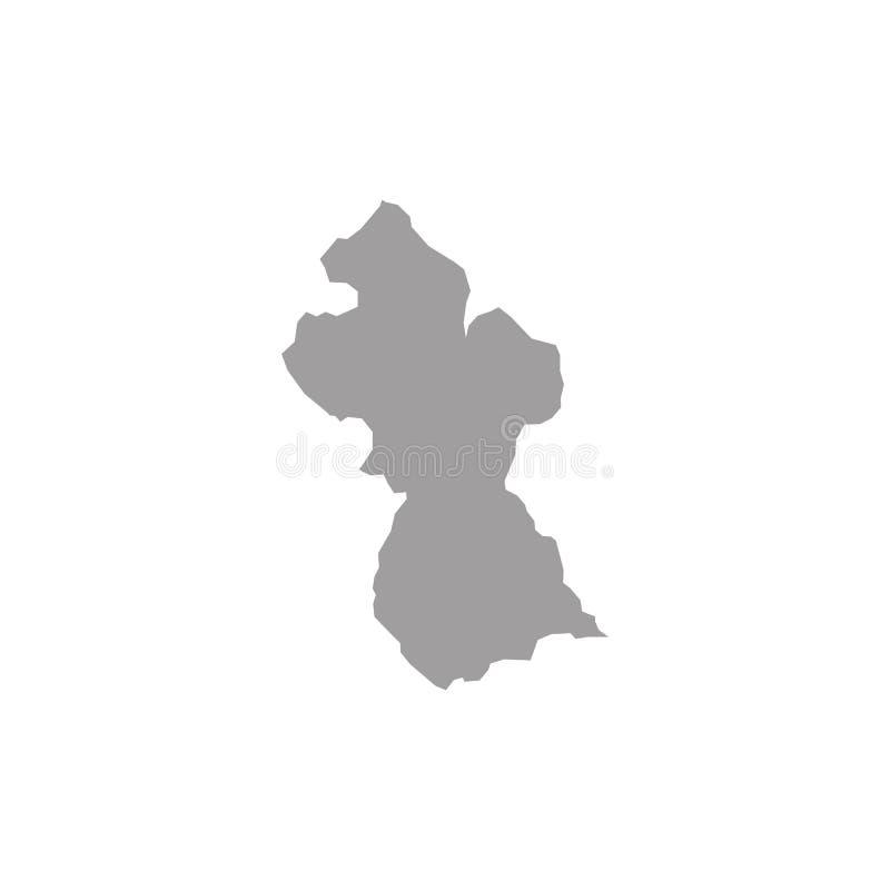 De kaartvector van Guyana stock illustratie