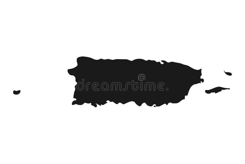 De kaartvector van Puerto Rico illustratieland geïsoleerde achtergrond stock illustratie