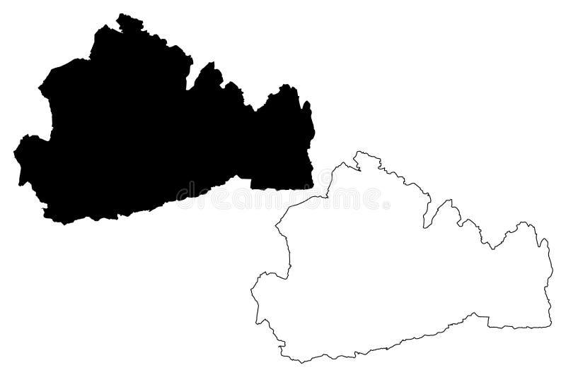 De kaartvector van Surrey vector illustratie