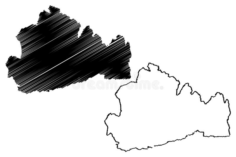 De kaartvector van Surrey stock illustratie