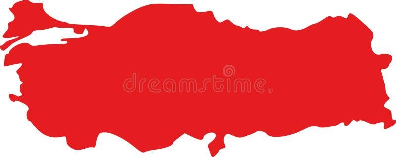 De kaartvector van Turkije vector illustratie