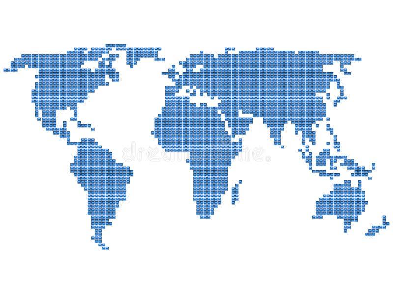 De kaartvierkant van de wereld royalty-vrije illustratie