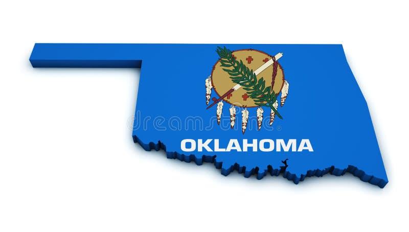 De Kaartvorm van de Staat van Oklahoma vector illustratie