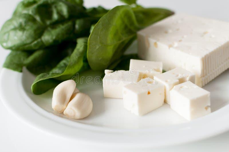 De kaas en de spinazie van feta royalty-vrije stock afbeelding