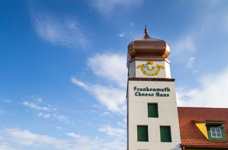 De Kaas Haus van Frankenmuthmichigan met Exemplaarruimte royalty-vrije stock foto's