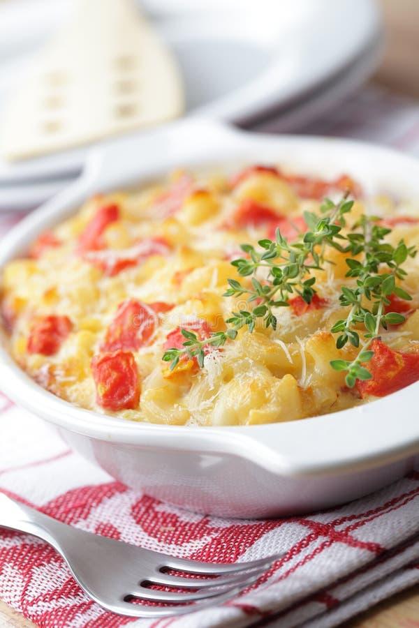 De kaas van de macaroni royalty-vrije stock fotografie
