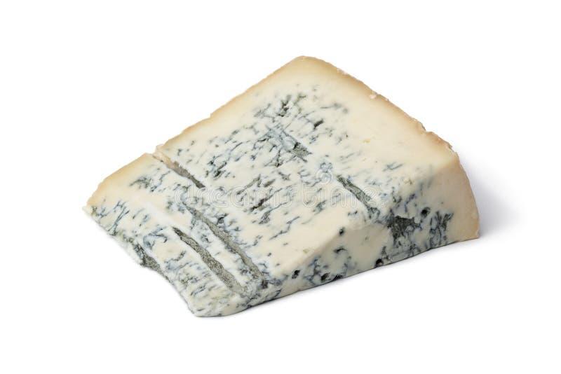 De kaas van Gorgonzola van het gedeelte royalty-vrije stock foto's