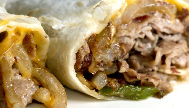 De kaaslapje vlees van Philly stock afbeeldingen