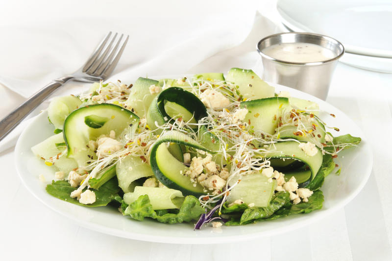 Download De Kaassalade Van Komkommerfeta Stock Afbeelding - Afbeelding bestaande uit groenten, spruiten: 39116003
