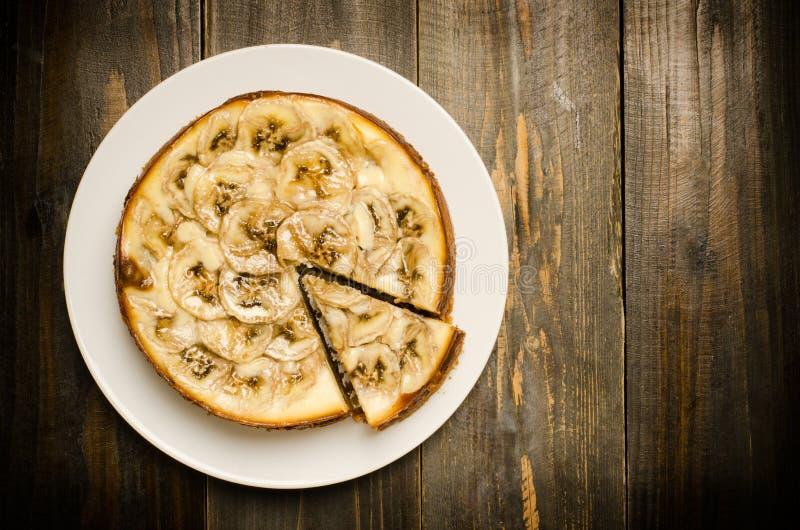 De kaastaart van de banaankaramel stock afbeelding