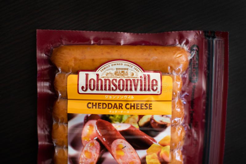De kaasworsten van de Johnsonvillecheddar royalty-vrije stock fotografie