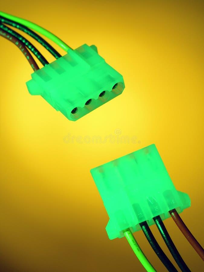 De Kabel van de computer stock afbeelding