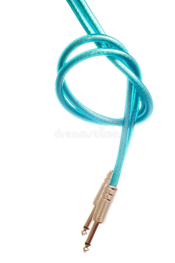 De kabel van de de hefboomhefboom van de gitaar stock foto's