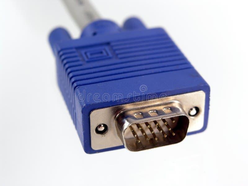 De kabel van de monitor stock foto