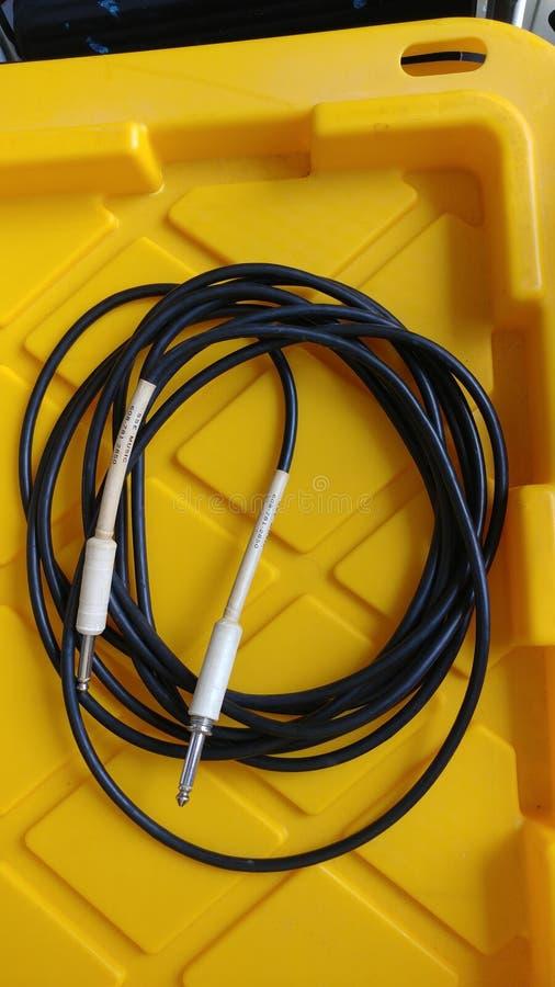 De Kabel van de gitaarampère royalty-vrije stock afbeelding