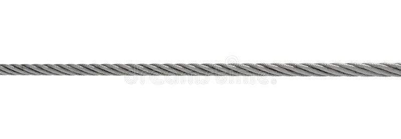 De kabel van het staal die op wit wordt geïsoleerdn royalty-vrije stock fotografie