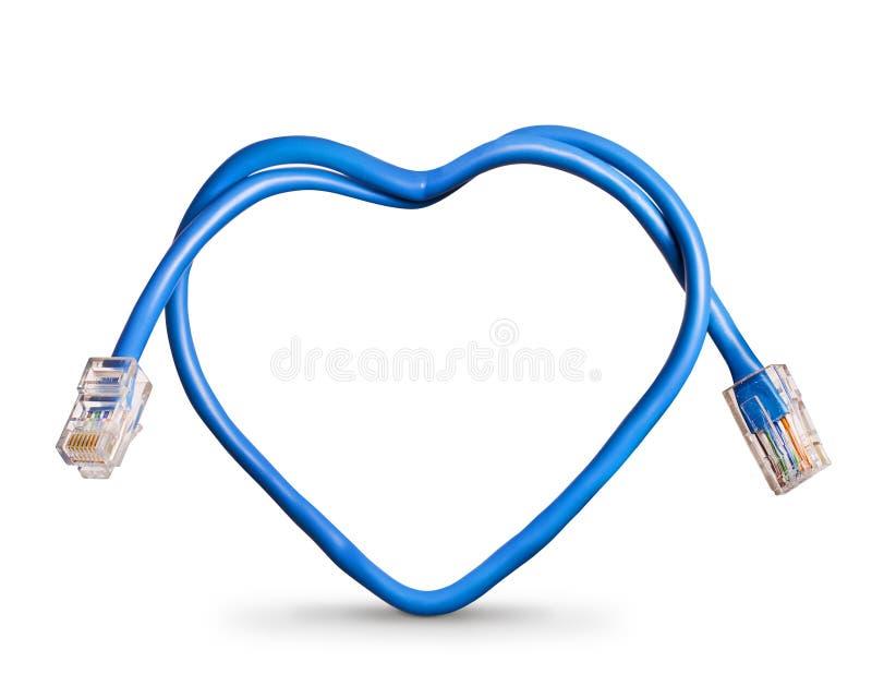 De kabel van Internet stock fotografie