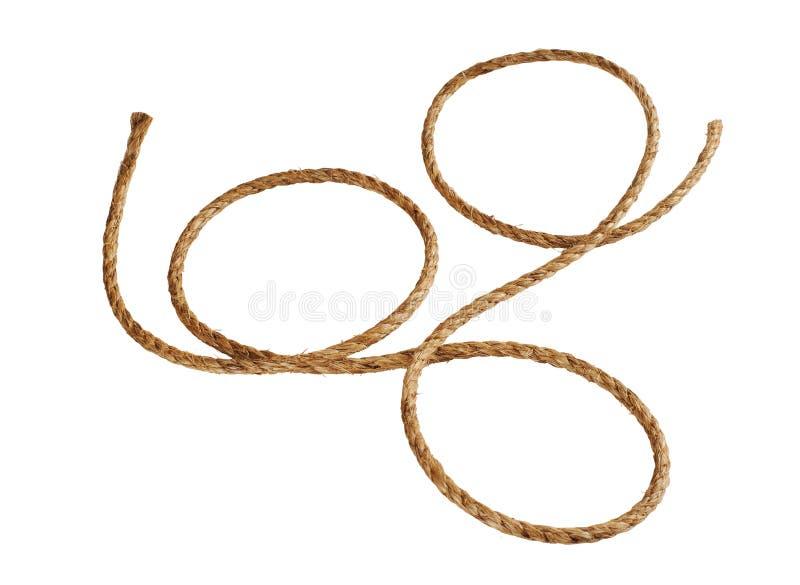 De kabel van Manilla stock afbeelding